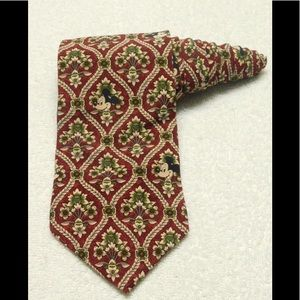 Disney Originals Red Floral Mickey Mouse Tie